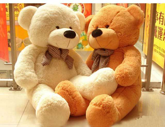 Giant Large Big White/Light Brown/Dark Brown/Pink Plush Teddy Bear 100CM Teddy Bear Plush Toy New(China (Mainland))