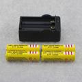 4pcs 3 7V 18650 BRC 5000mah unprotected li ion rechargeable Battery EU dual 18650 Battery Charger