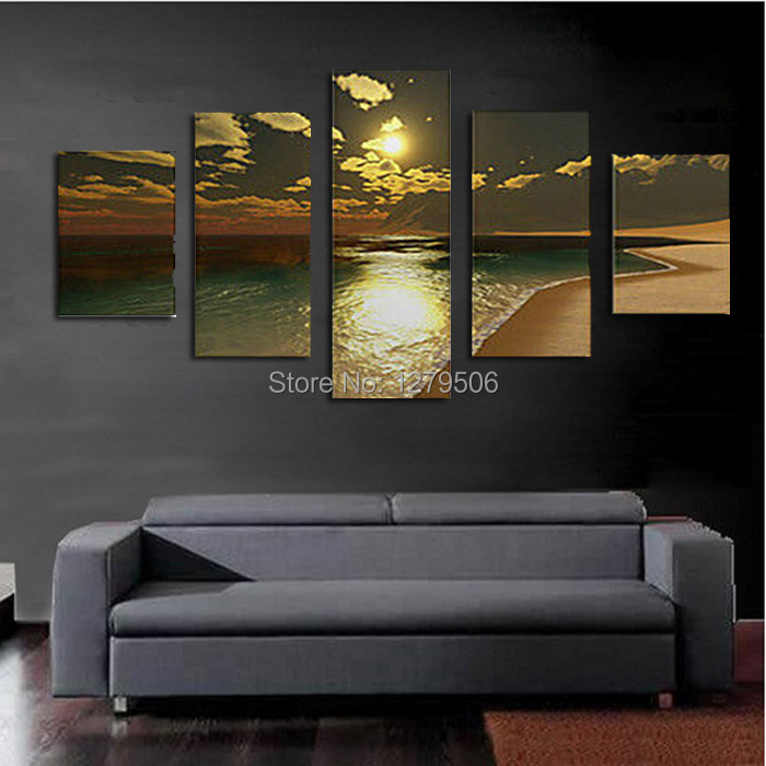 Handmade oil painting on canvas wall art home decor for for Living room 12x16