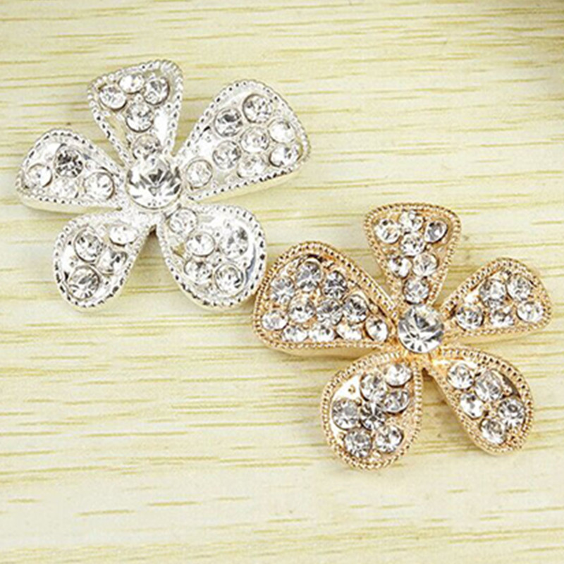 5 Pcs/lot Flower Crystal Diamond Shining Mobile Phone Stickers DIY Cell Phone Styling Decoration Sticker Phone Decal Accessories(China (Mainland))