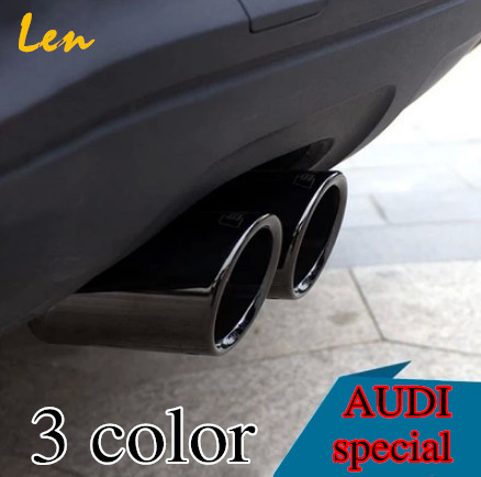 case for AUDI Q5 A3 A4 B8 Sedan 2.0 2009 2010 2011 2012 2013 2014 UP exhaust pipe car covers Car Silencer styling(China (Mainland))