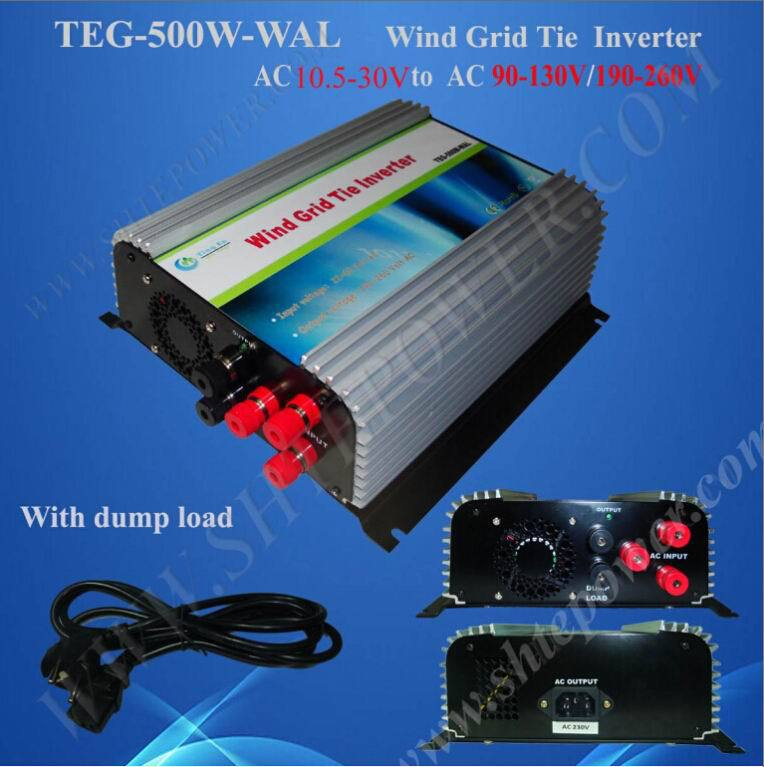 12v 100v Pure sine wave 500W Wind Grid Tie AC To AC Inverter(China (Mainland))