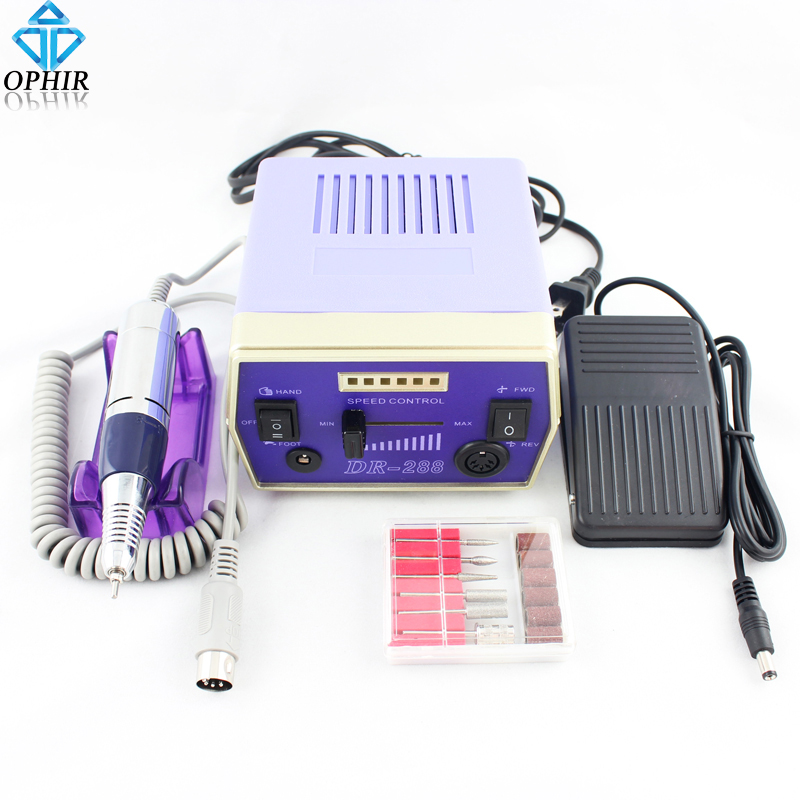 Фотография OPHIR Pro Electric Nail Drill Machine 30000RPM Nail Art Equipment Manicure Polishing Machine to Nails File Drill Bits Nail Tool