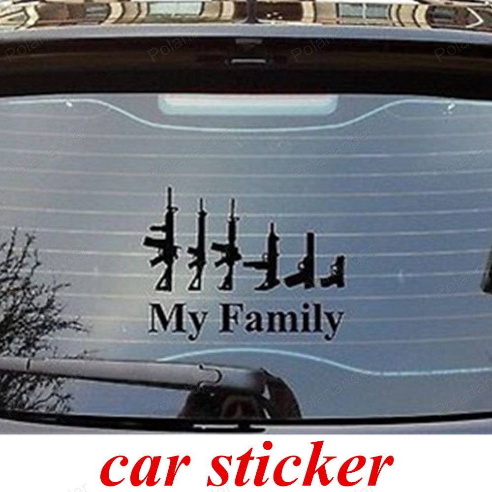 Family car sticker designs - Big Sale Car Styling Stickers Cool Design Personality Vehicle Gun My Family Affixed To The Body