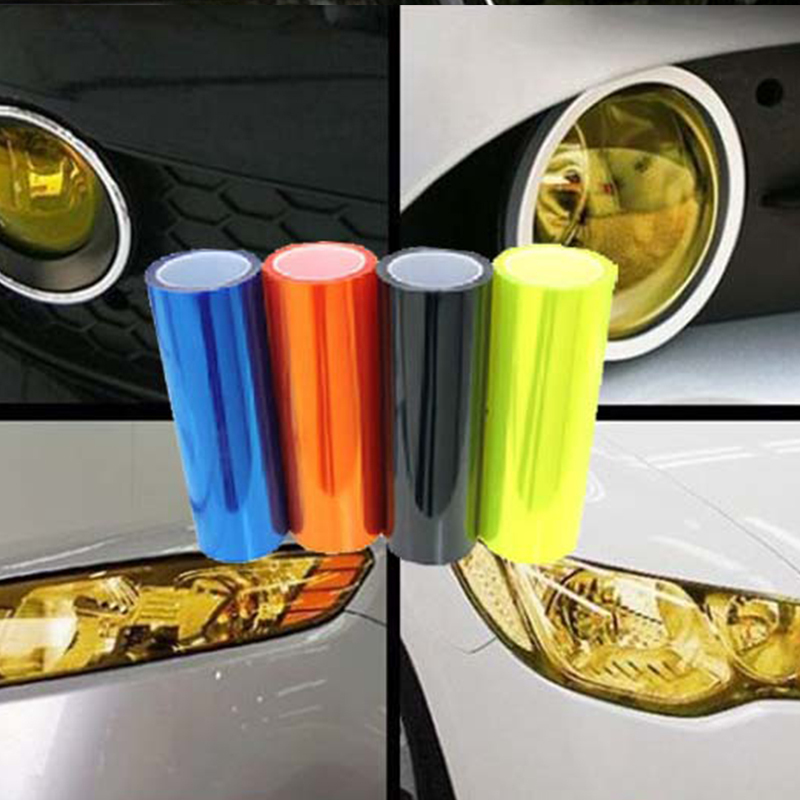 30cm X 100cm Matte Vinyl High Quality Sticker Cars 12 Colors Headlight Vinyls Tinting Car Styling