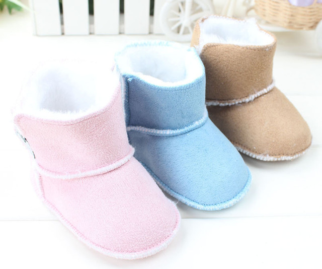 1 Pair Fashion Snow Boots 2015 Warm Winter Baby Toddler Shoes Soft Soled Kids Boy's & Girl's Infant Baby Boots First Walker 4413