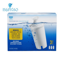 3-Pack Advanced Replacement Water Filter Purifier Filtros for Brita Pitcher Pitchers