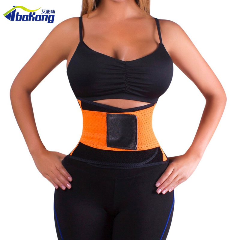 Waist Trimmer Exercise Burn Fat Sweat Weight Loss Body Shaper Wrap Belt for slimming upper back support posture correction belt(China (Mainland))