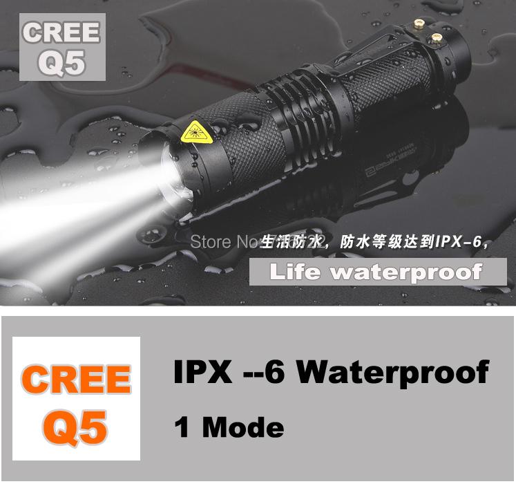 Mini LED Torch 7W 400LM CREE Q5 LED Flashlight Adjustable Focus Zoom flash Light Lamp free shipping wholesale<br><br>Aliexpress