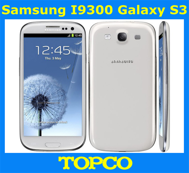"""Original unlocked Samsung Galaxy S3 i9300 Android mobile phone 3G GSM 4.8"""" 8MP GPS WIFI i9300 smartphone dropping shipping(China (Mainland))"""