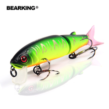 Bearking 2016good fishing lure minnow quality professional bait 11.3cm 13.7g swim bait jointed bait equipped black or white hook(China (Mainland))