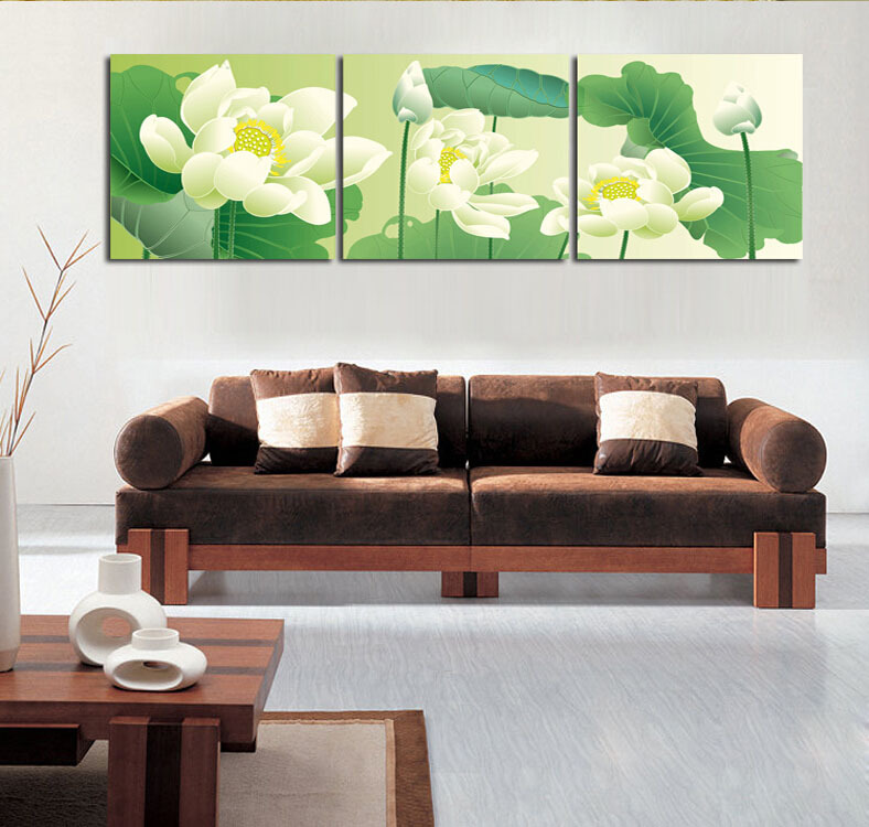 3p Modern Painting Home Decorative Art Picture Paint on Canvas Prints One fascinating Summer flowers(China (Mainland))