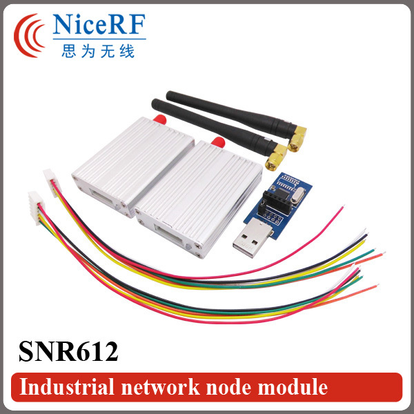 2pcs/pack TTL Interface 470MHz Radio Transmitter Receiver With Metal Boxing 100mW Si4432 Network node Module SNR612(China (Mainland))