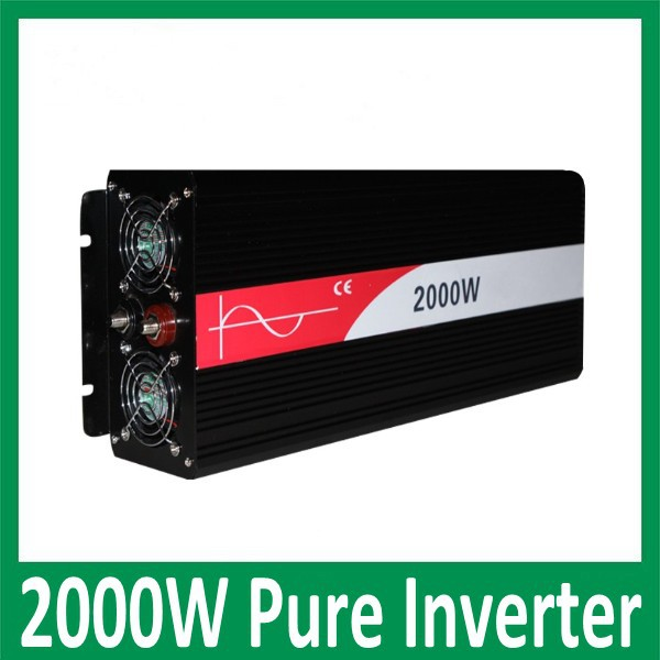 2000W onde sinusoidale pure 12VDC/24VDC ,2000W Solar Pure Sine Wave Off-grid Inverter or wind inverter ,Two year Warranty(China (Mainland))
