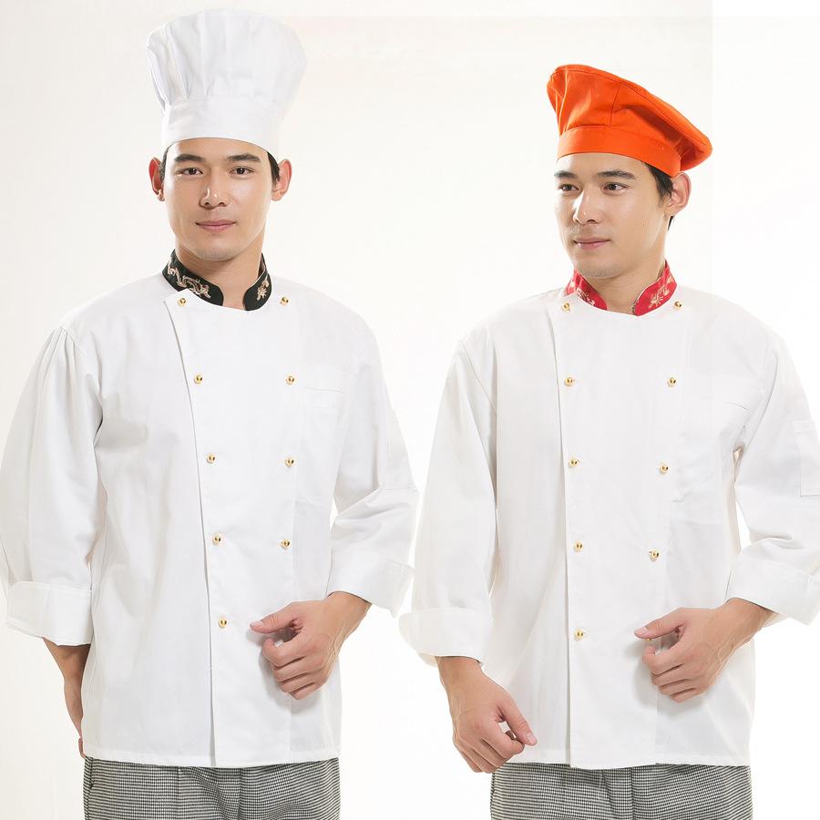 Padded clothing long-sleeved chef clothing chef chef clothes autumn/winter autumn/winter hotel chef waterproof(China (Mainland))