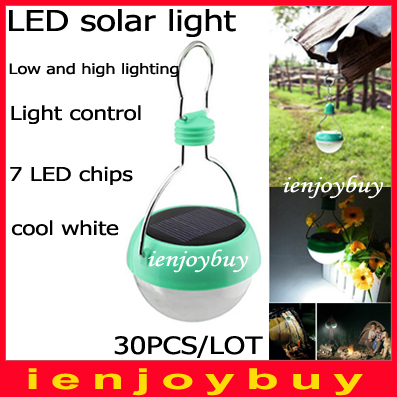 30pcs/lot by DHL Low/High lighting Novelty Solar LED Lamp Portable 100% Waterproof Outdoor solar light bulbs(China (Mainland))