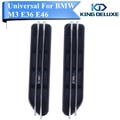 2x Logo M Decorative Front Fender Side Vent Grills Self Adhesive Air Flow Exterior For BMW