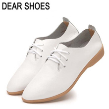 Genuine Leather Shoes Women Oxford Shoes For Women Shoes Fashion Flats Women Moccasins Platform Ladies Chaussure Femmer Z356