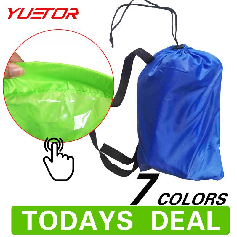 Brand YUETOR Hangout Lounger waterproof air bag sofa Camping Beach sleeping fast inflatable bed folding lazy laybag air lounger(China (Mainland))