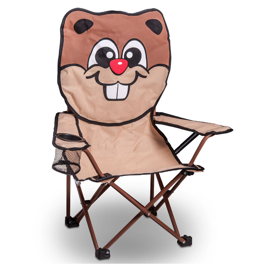 Portable Outdoor Folding Chair Children Lightweight Cartoon Squirrel Fishing Hiking Beach Carried Bag - fashiontop store
