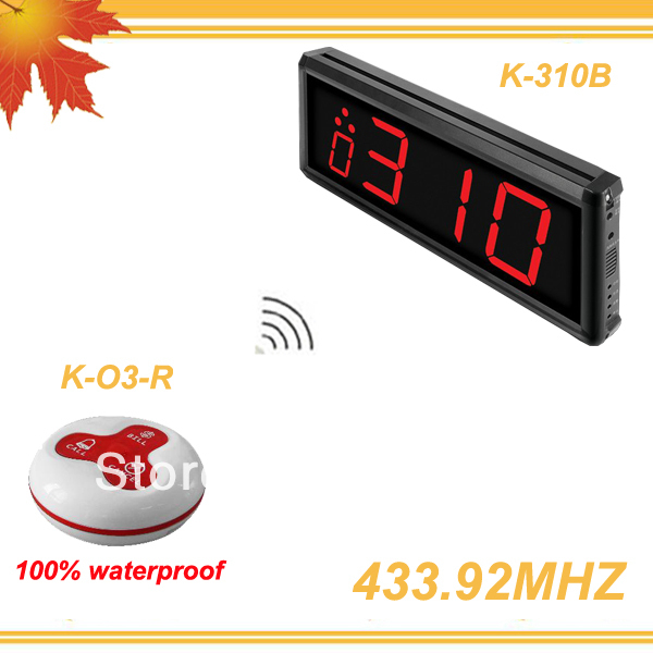 433.92MHZ QuickBell Wireless Call Calling Waiter Paging Service System w buttons CALL,BILL,CANCEL for Restaurant Pub Coffee Bar(China (Mainland))