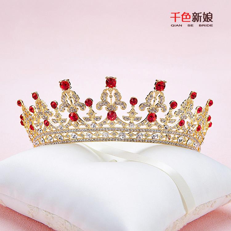تيجان ملكية  امبراطورية فاخرة ذهبي Muhte%C5%9Fem-Tiara-Kad%C4%B1n-Taç-rhinestone-tak%C4%B1-Barok-corona-Prenses-evlilik-saç-süsler-3-renk-foto%C4%9Fraf-balo