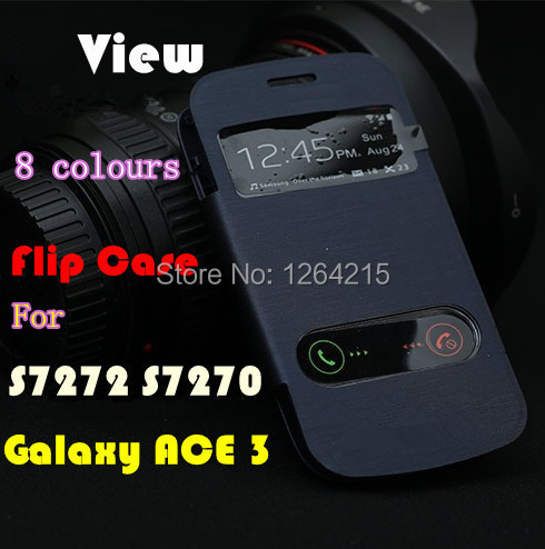 Samsung Galaxy ACE 3 III S7270 S7272 View Window Flip Back Cover Cases Battery Housing Case + - aliexpress case store