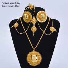 New Ethiopian bridal jewelry sets 24K gold plated African gold set/Nigeria/Sudan/Eritrea/Kenya/Habasha style/Wedding set A30029(China (Mainland))