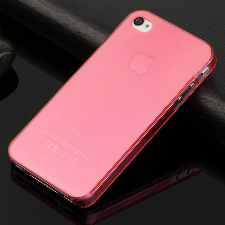 wholesale ultra thin slim mobile phone case for apple iphone 4s iphone4 matte crystal clear transparent pc hard back cover(China (Mainland))
