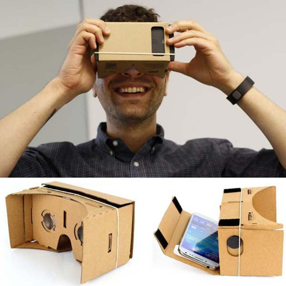 Ubit DIY Google Cardboard Valencia Quality 3D VR Virtual Reality Glasses for 5.0 Mobile Phone Google VR 3D Glasses Smart phone <br><br>Aliexpress