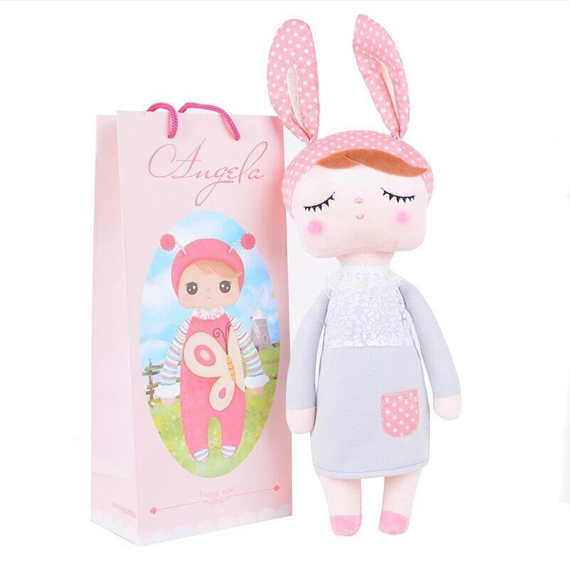 Lovely Angela rabbit Meetoo dolls Cute soft Plush Stuffed Rattles Toys appease for children's gifts brinquedos bebe(China (Mainland))