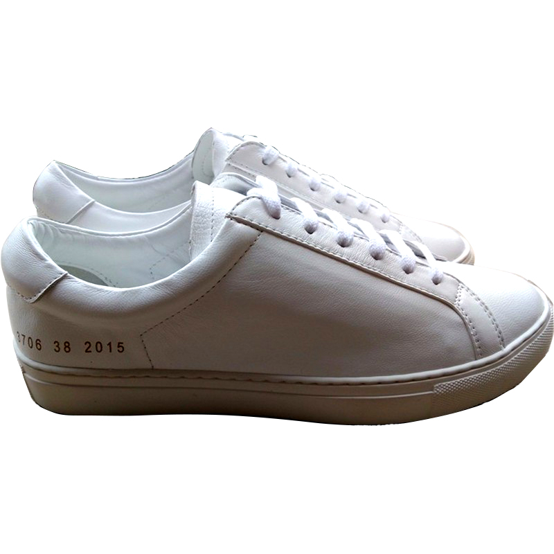 Фотография COMMON PROJECTS And Sheep Leather Shoes Of New Fund Of Autumn Winters Is Lace-up Casual Shoes For Unisex Men And Women