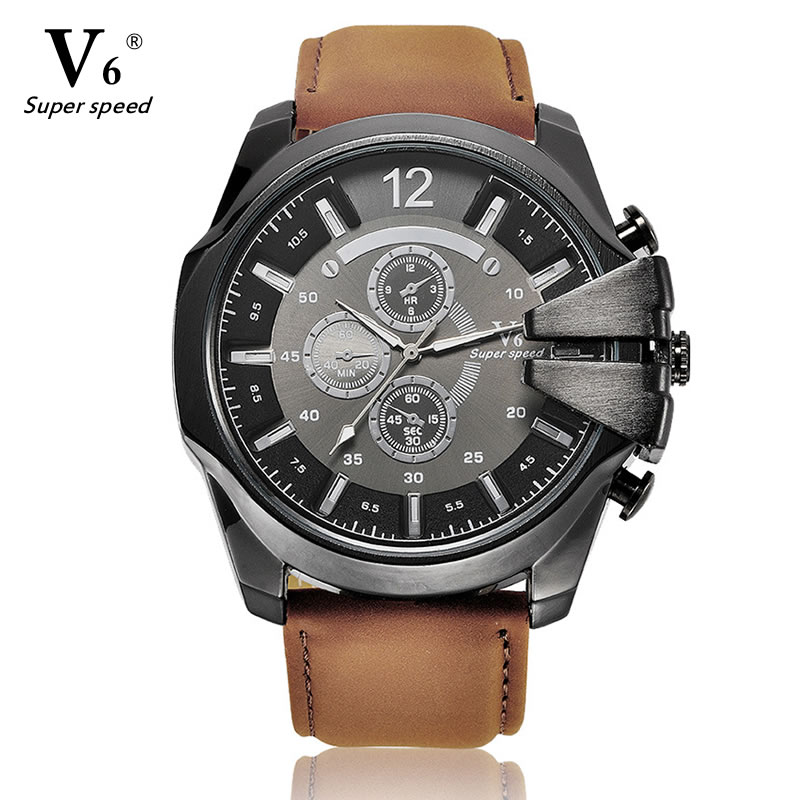 fashion v6 brand mens new design analog sports