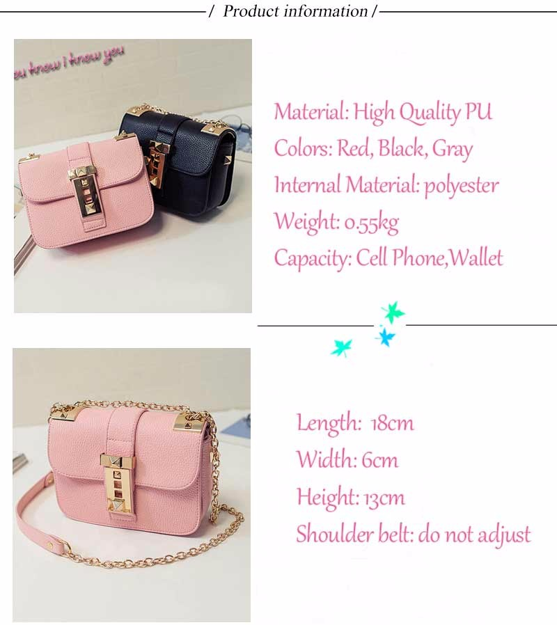 Fresh Women Chain Messenger Bag Luxury Brand Women Pu Leather Handbags 3 Layers Candy Color Crossbody Bag for Girl BT0000458