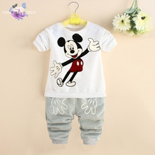 Boys girls clothing set brand baby girls suits carters boys mickey tracksuit minnie girls outfits spring baby boy clothes sets(China (Mainland))