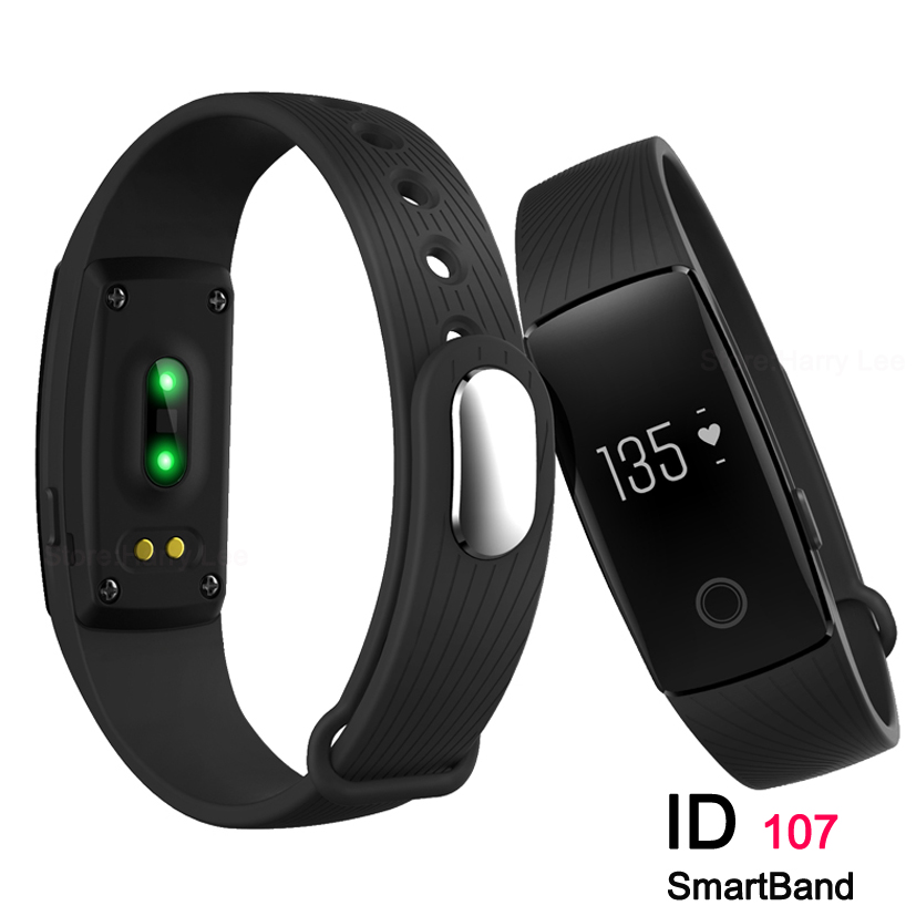 2016 Id 107 High Frequency Smart wristband sports wristband pedometer sedentary Bluetooth 4.0 Smart alert band for Android IOS(China (Mainland))