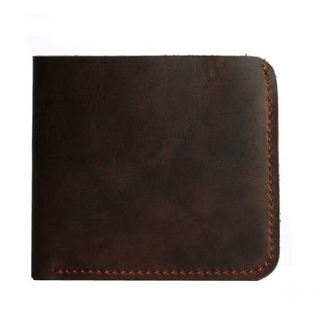 COWATHER 2016 топ корова слой мужчины винтаж бумажник корова crazy horse кожа для мужчин pursefree доставка