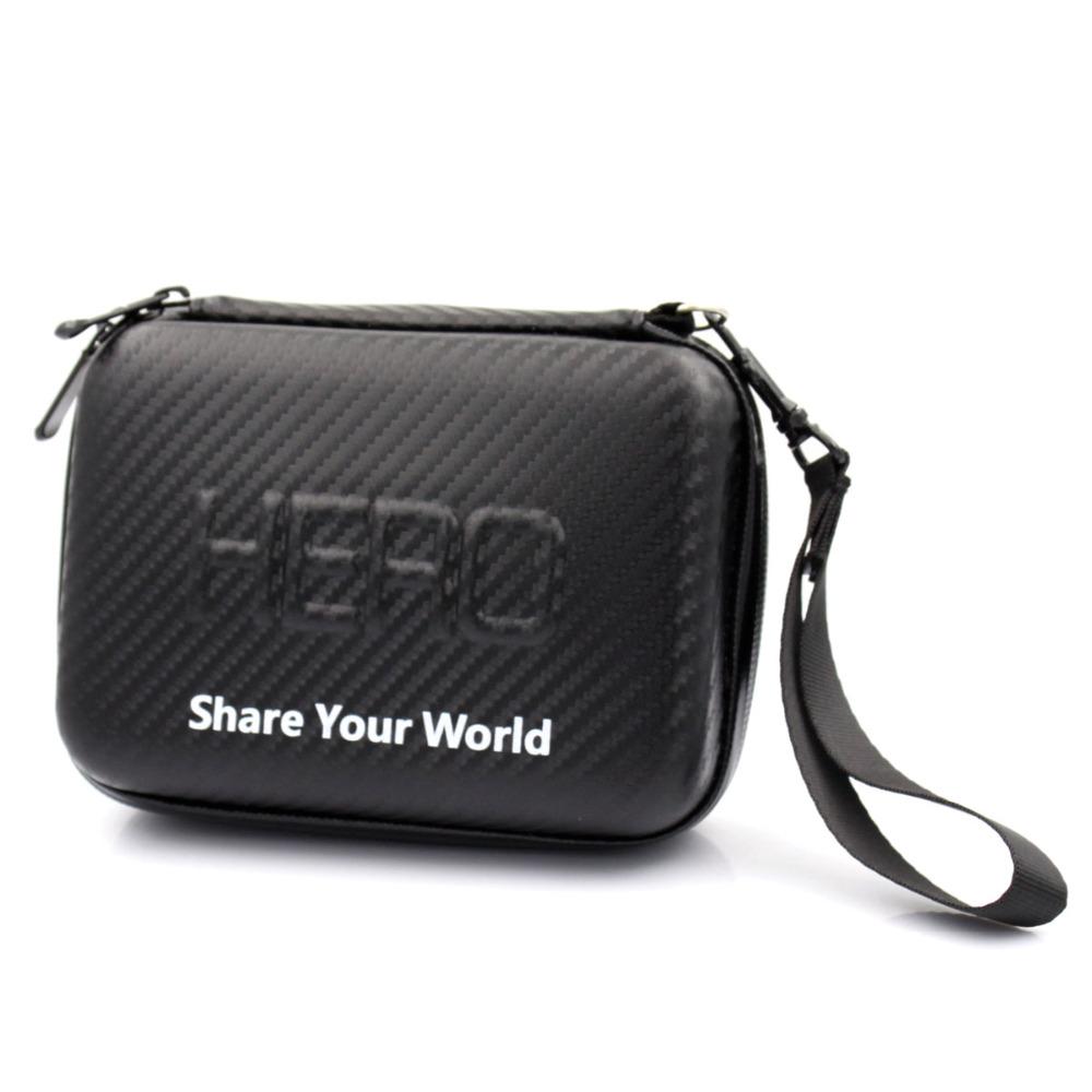 Protective Hard EVA Camera Small Case 16.5x12x7cm for GoPro Go Pro Hero 4 3+ 3 2 1 SJ4000 Waterproof Carry Box with Strap Zipper(China (Mainland))