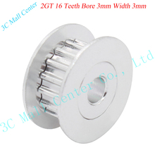 3D printer part 2GT16 tooth 16 teeth bore 3mm synchronous wheel pulley H type passive idler pulley wheel Bearings wheel