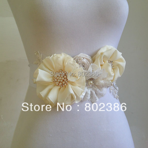 Aliexpress Buy Ivory Bridal Sash Belt Wedding Dress Accessories From Reliable Accessories