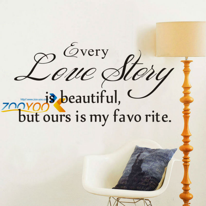 """Quote """"Love story is beautiful,but ours is my"""" DIY art creative home decoration removable waterproof vinyl decal wall sticker(China (Mainland))"""
