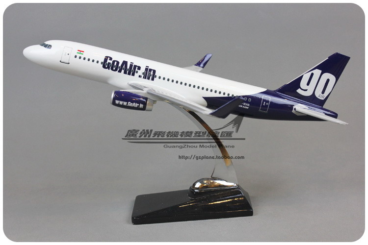 40cm 1:99 Air India GoAir.in Airlines Boeing B737 Airways Resin Airplane Model Plane Model Toy Collections(China (Mainland))