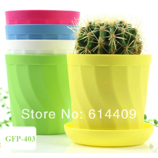 Free shipping Europe style Resin flower pot, desk flower pot, resin flower pot, garden pot 2set/lot with tray(China (Mainland))