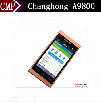 "Original Changhong A9800 Flip Mobile Phone MTK6577 Dual Core Android 4.0 3.7"" IPS 800X480 1GB RAM 4GB ROM 8.0MP WCDMA 3G(China (Mainland))"