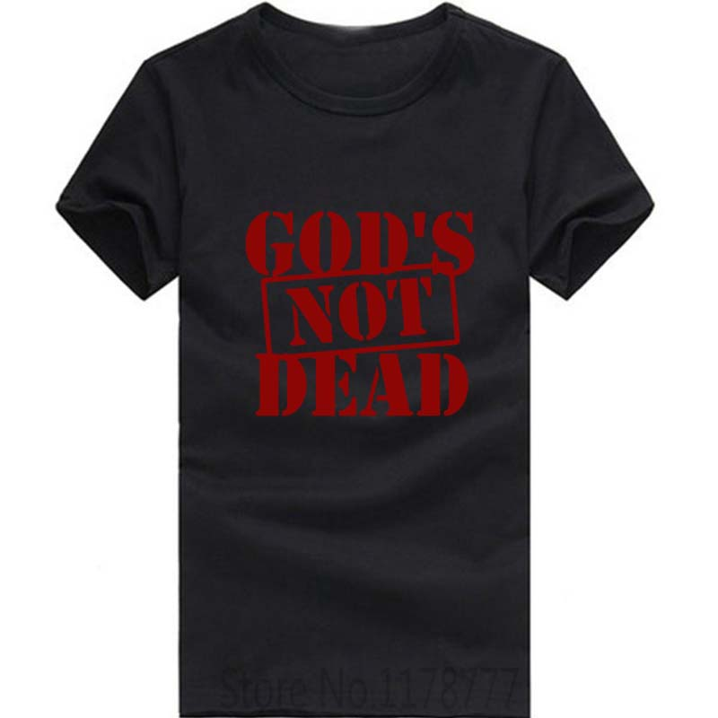 New Summer Fashion God's Not Dead Jesus T Shirt Men Casual Short Sleeve Men's Clothing Tshirt Camisetas(China (Mainland))