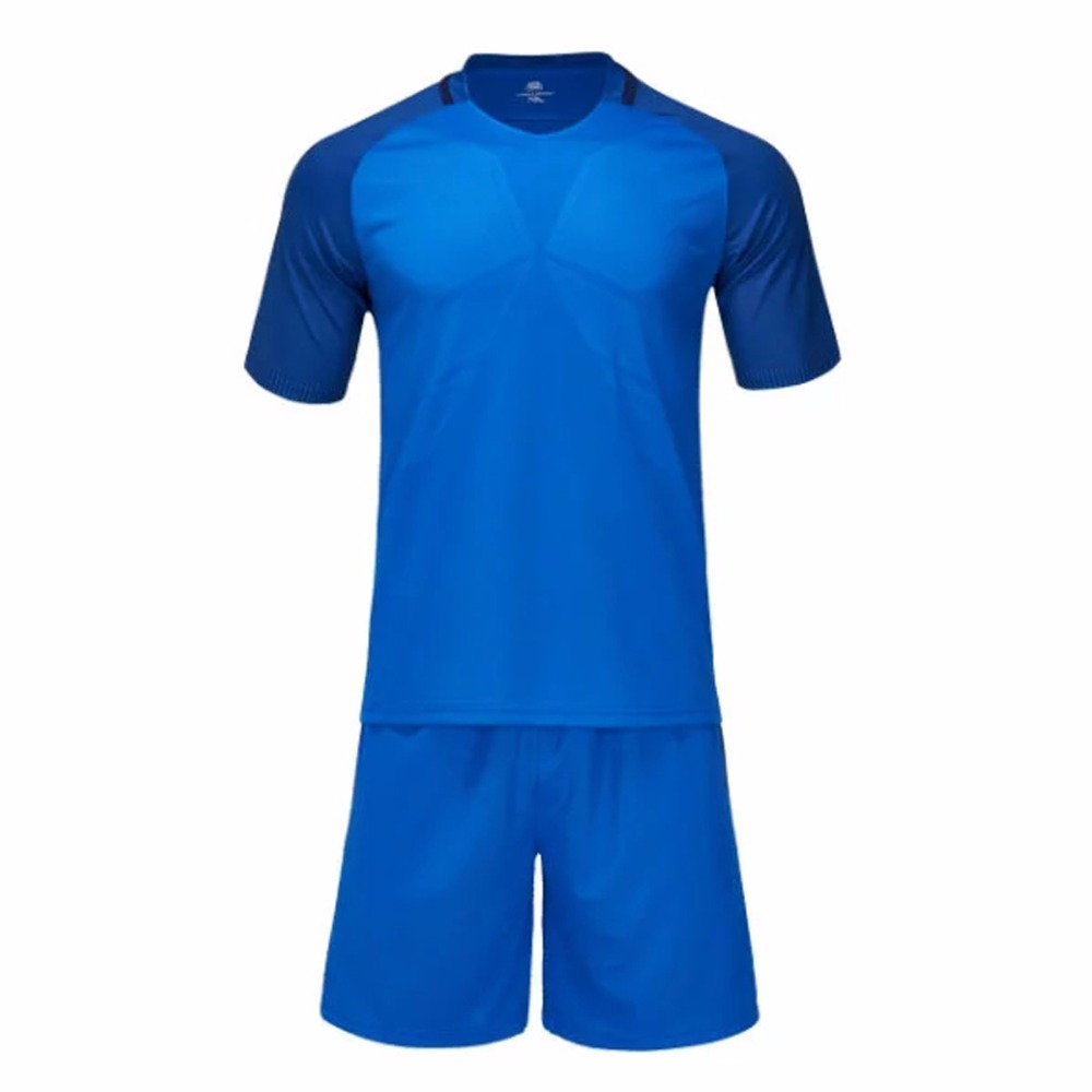 Blue football jerseys breathable quick dry mens boys soccer jerseys sports kits youth custom football training match uniforms(China (Mainland))
