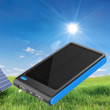 DoSHIN Solar Power bank Real 5000mah Double USB Portable Solar Charger PowerBank for xiaomi smartphone /ipad camera