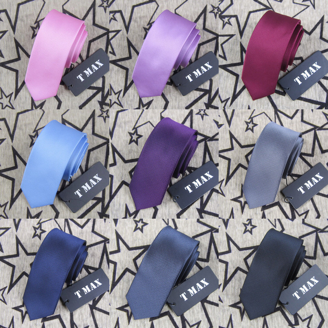 T max solid color tie male 5.5cm tie formal married commercial tie