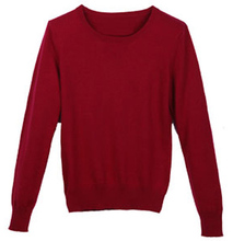 2015 Cashmere Sweater Women Sweaters and Pullovers Women Fashion o Neck Solid Color Long sleeve S-XXL Knitted Sweater(China (Mainland))