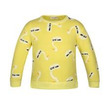 New Boys Sweater Girls Sweatshirt Cotton Boys Clothing Long Sleeve Kids Hoodies Bobo Choses Swan Sweater Mini Rodini  CCU07A(China (Mainland))